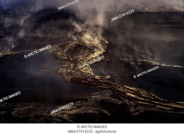 Dust storm in the highlands close to Holuhraun. August 29, 2014 a fissure eruption started in Holuhraun at the northern end of a magma intrusion