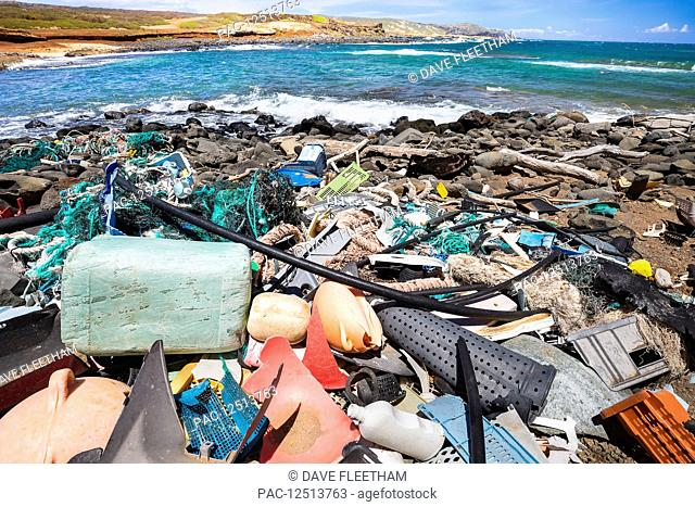 Much of the North side of the island of Molokai is inaccessible. when trade winds blow onshore regularly bringing with them piles of plastic that has been...