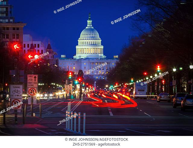 The United States Capitol is the meeting place of the United States Congress, the legislature of the federal government of the United States