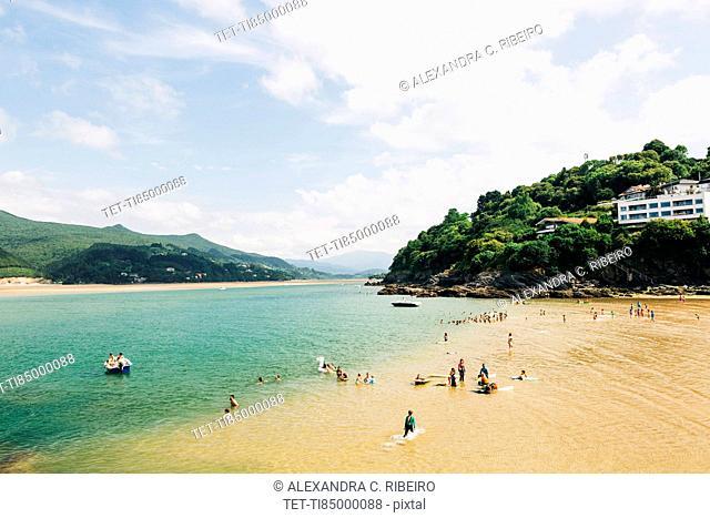 Mundaka Beach in Spain