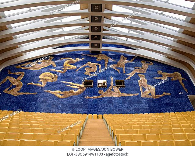 The interior of the Palau de les Arts Reina Sofia