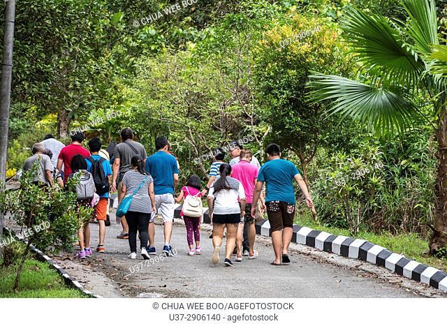 Visitors leaving Semengoh Wildlife Centre, Kuching, Sarawak, Malaysia