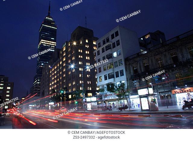 Torre Latinoamericana in Avenida de la Reforma, Mexico City, Mexico, Central America