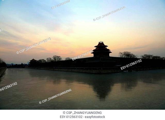 BEIJING - DECEMBER 22: The Northwest turrets of the Forbidden City on december 22, 2013, beijing, china