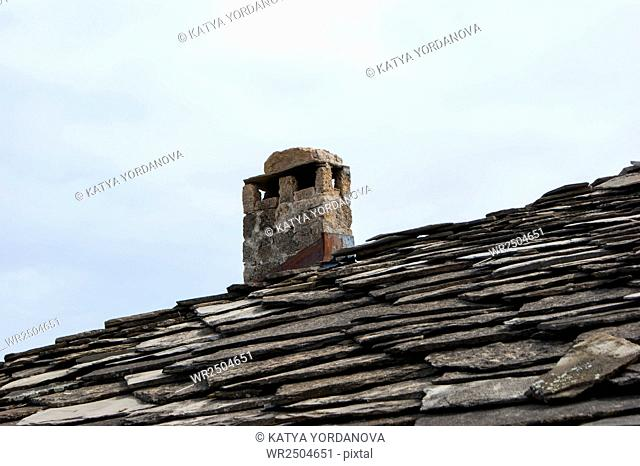 Old roof tiles