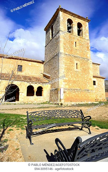 Church of San Miguel Arcangel in Andaluz, Soria, Spain