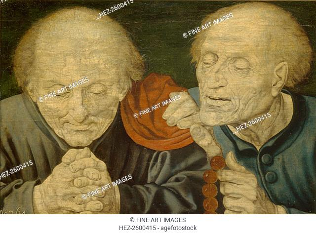 Two Old Men. Found in the collection of the State A. Pushkin Museum of Fine Arts, Moscow