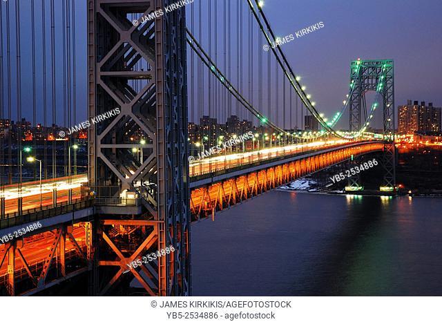 George Washington Bridge over the Hudson River