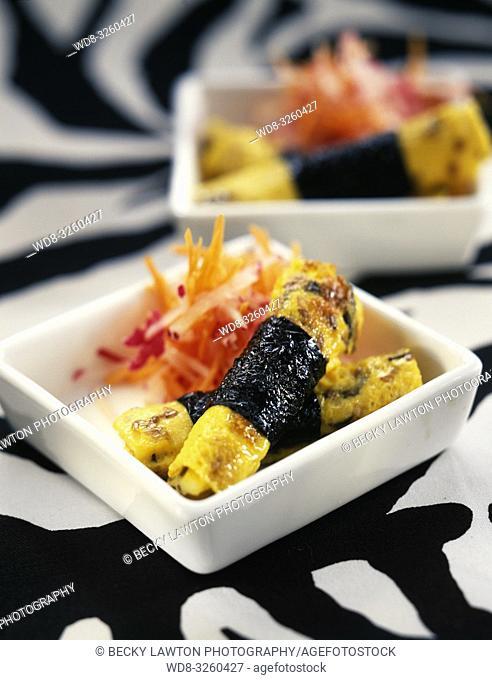 Omelette aux algues nori