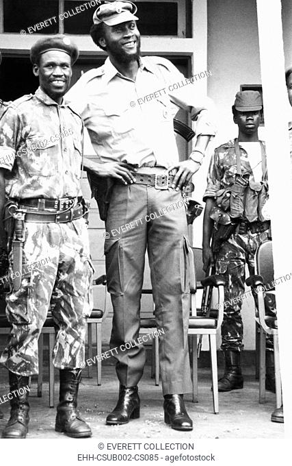 Colonel Samuel Chiwale, Commander-in-Chief of the Armed Forces of UNITA, Feb. 1976. UNITA, National Union for the Total Independence of Angola was engaged in a...