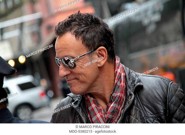 The singer-songwriter Bruce Springsteen in New York. New York, USA. 1st October 2011