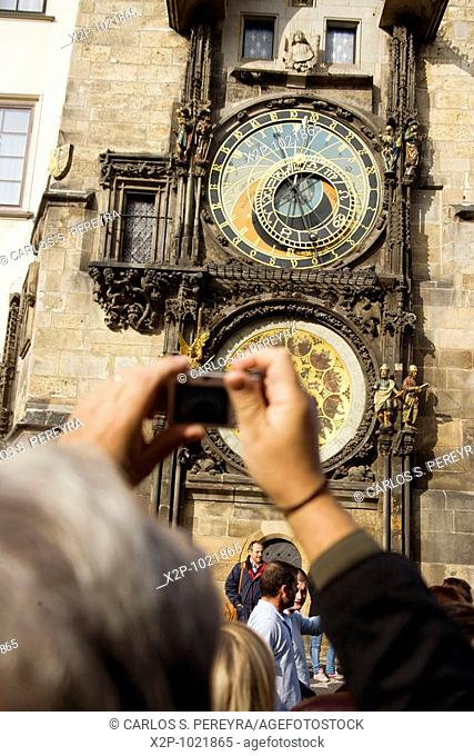 Astronomical clock at the old town square, Prague, Czech Republic