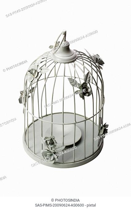 Close-up of a birdcage