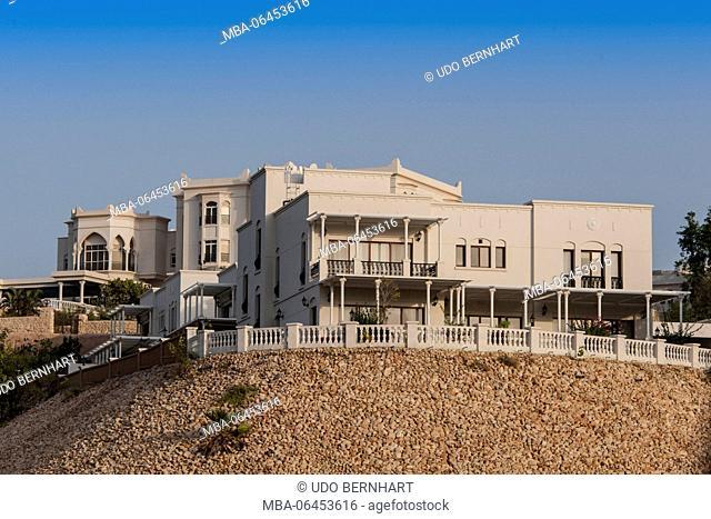 Arabia, Arabian peninsula, Sultanate of Oman, Muscat, Qurum, villas