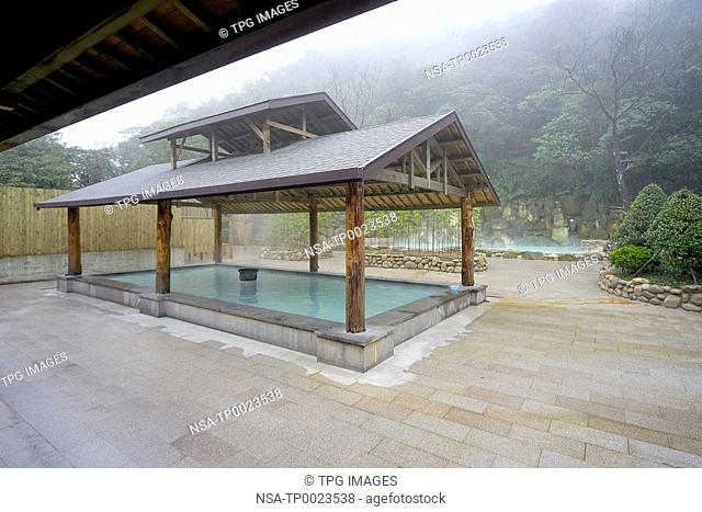 Hot spring in tourist resort