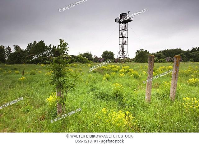 Estonia, Western Estonia Islands, Saaremaa Island, Sorve Peninsula, Saare, Soviet-era spy base, radio antenna