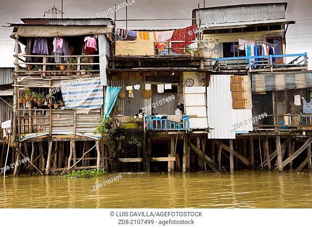 floating houses.chau giang.vietnam