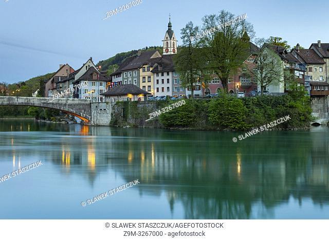Evening in Laufenburg, canton Aargau, Switzerland