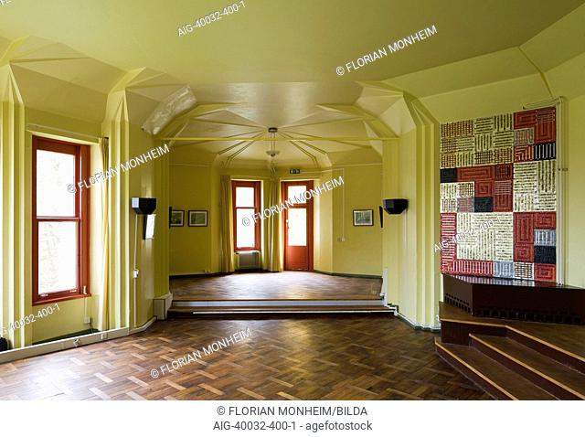 Interior of Wylerberg House, designed by Otto Bartning, in Kleve, Germany