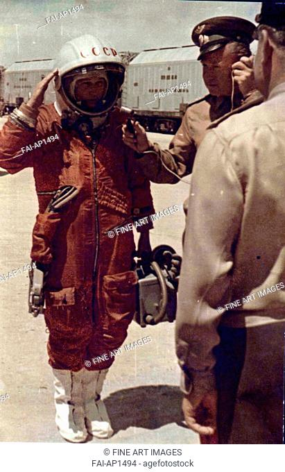 Valentina Tereshkova on the Baikonur Cosmodrome on June 16, 1963. Anonymous . Photograph. 1963. State Museum of History, Moscow. History