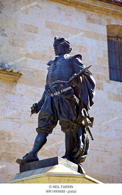 Statue of Jose de Ribera, Plaza Del Poeta Llorente, Valencia, Spain, Europe