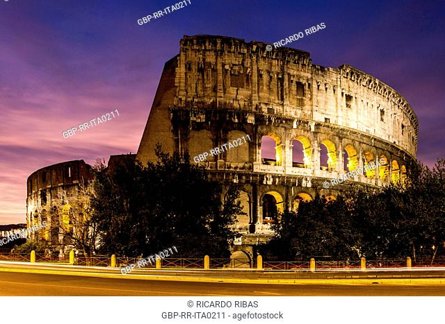 Colosseum at sunset. Rome, Province of Rome, Italy. 23.12.2012