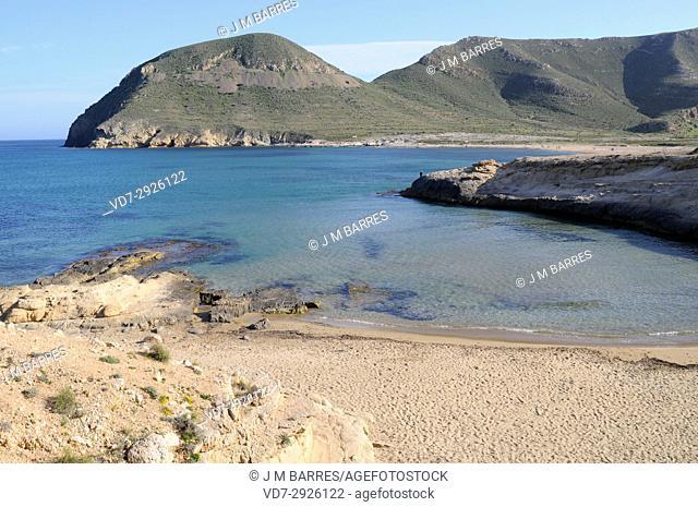 El Playazo de Rodalquilar from Las Negras. Cabo de Gata-Nijar Natural Park, Almeria province, Andalucia, Spain