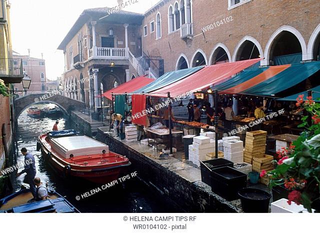 Italy, Veneto, Venice, the fish market