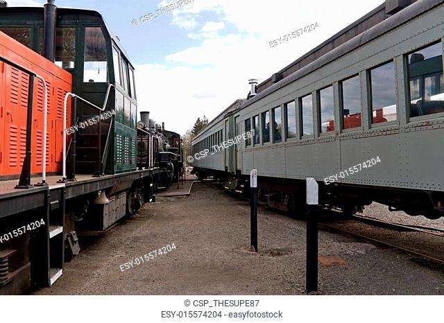 Antique Train Railroad Cars