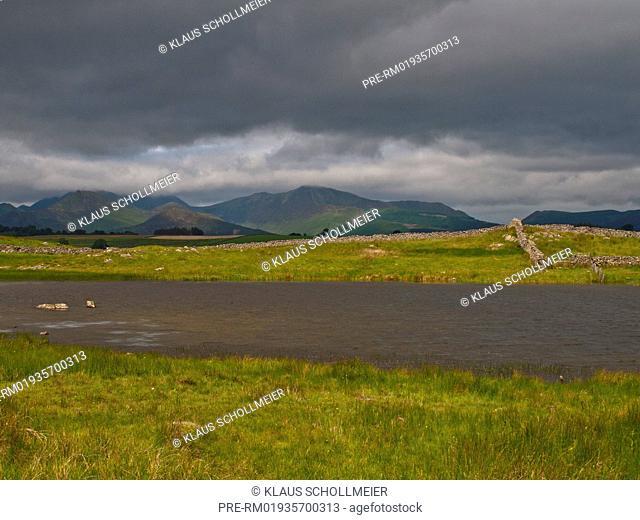 Landscape in Lake District near Keswick, Cumbria, England, UK / Landschaft im Lake District bei Keswick, Cumbria, England, UK