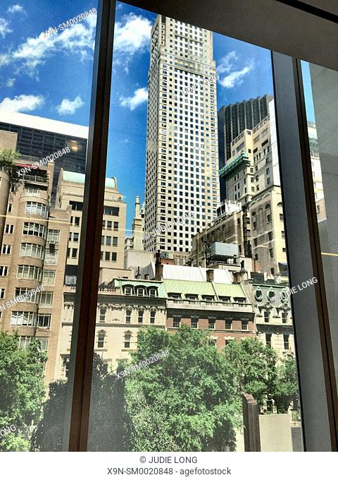 New York City, Manhattan. View from West 54th Street