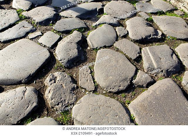 Ancient Appian road Rome Italy