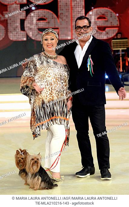 Member of Jury the dancer and choreographer Carolyn Smith and the stylist Guillermo Mariotto during the Talent Show ' Dancing with the stars ', Rome