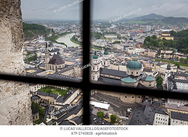 view from the Fortress Hohensalzburg, Salzburg, Austria