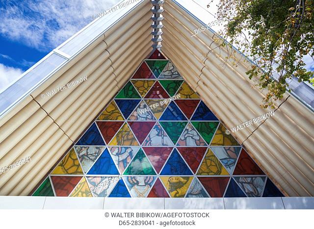 New Zealand, South Island, Christchurch, Cardboard Cathedral, replacement cathedral built of cardboard after the 2011 earthquake, Shigeru Ban, architect