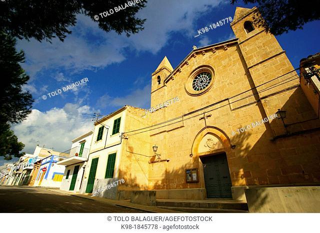Church of the Mother of God of Carme Mare de Déu del Carme Porto Colom Felanitx Migjorn Spain Baleares Mallorca