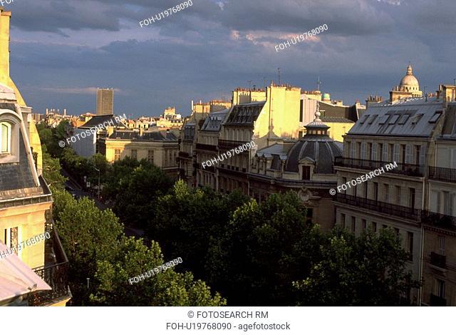 paris, french, buildings, architecture, classical, view