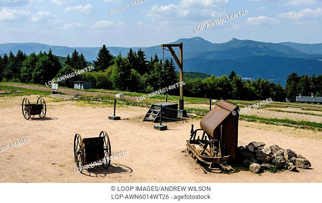The gallows at the Natzweiler-Struthof German concentration camp located in the Vosges Mountains close to the Alsatian village of Natzwiller