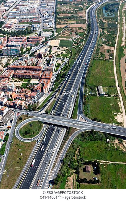 A-2 highway  Molins de Rei  Barcelona, Spain