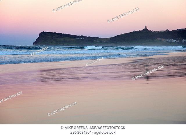 Winter sunset at Lennox Head, NSW, Australia