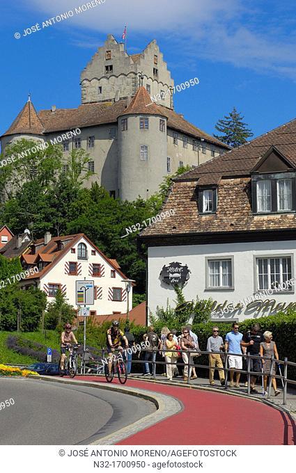 Castle, Meersburg, Lake Constance (Bodensee), Baden-Wuerttemberg, Germany, Europe