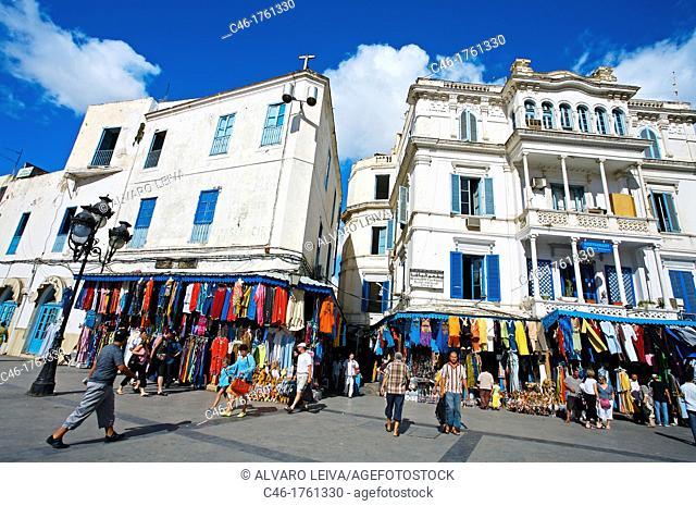 Buildings on the entrance to the Medina, Tunis  Tunisia