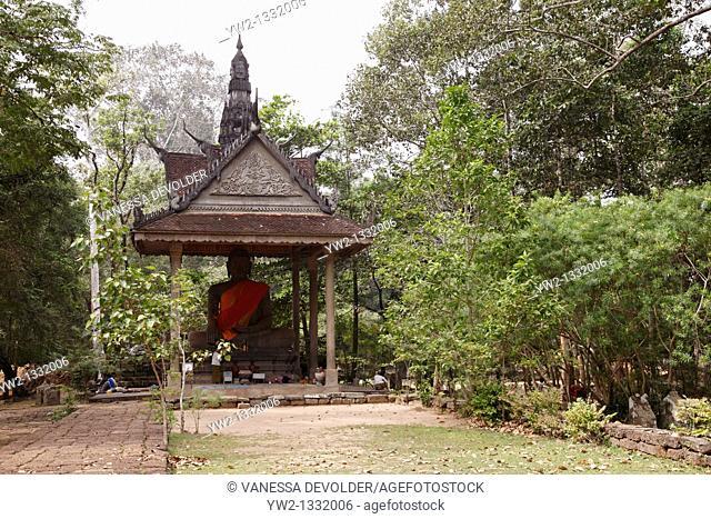 Temple with Buddha at Angkor Cambodia 10CAM0061RM