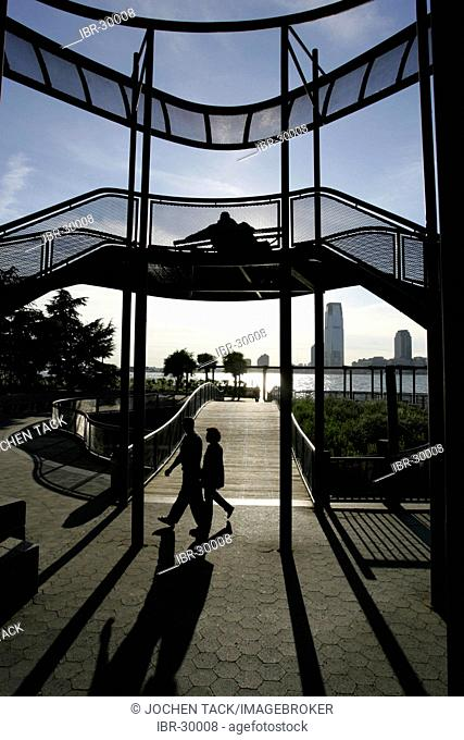 USA, United States of America, New York City: Hudson River Park, south west end of Manhattan