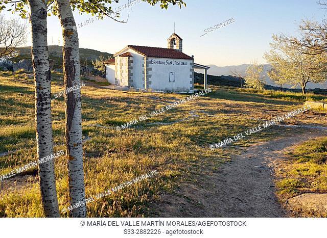San Cristobal hermitage in Navalmoral pass. Avila. Castilla Leon. Spain. Europe