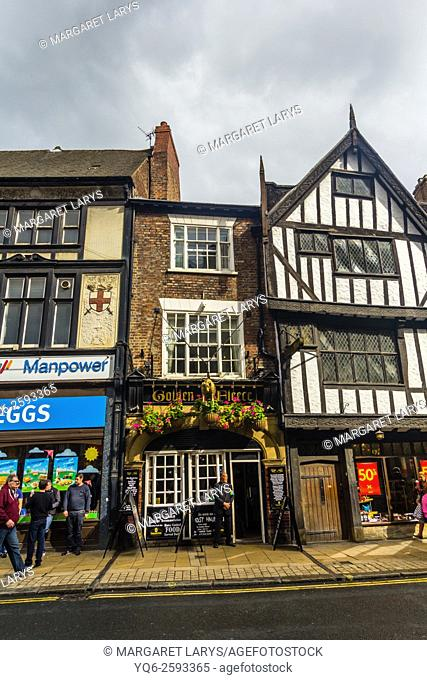 Old, historical architecture in York, England, United Kingdom