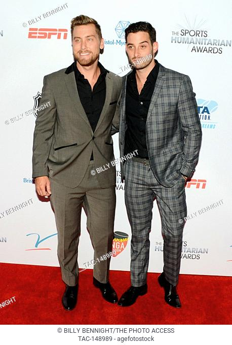 Lance Bass and Michael Turchin attends the 3rd Annual Sports Humanitarian of the Year Awards at LA LIVE'S The Novo in Los Angeles on July 11, 2017