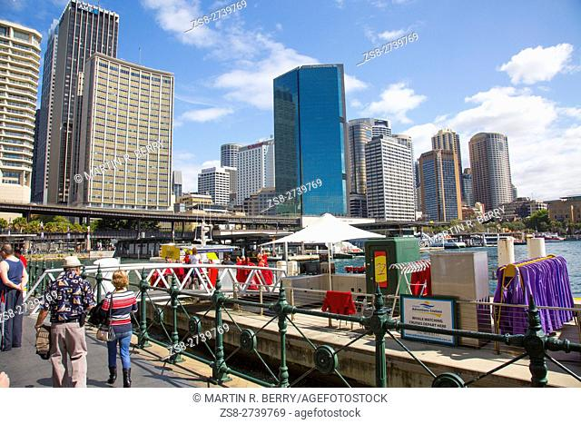 Sydney Circular Quay and city centre,Australia