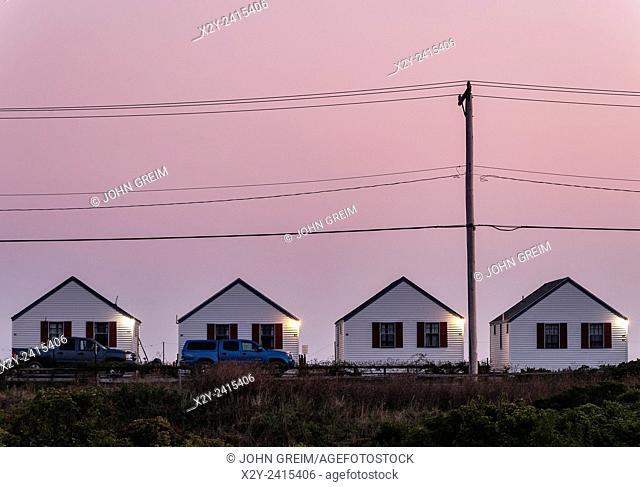Beach cottages, Truro, Cape Cod, Massachusetts, USA
