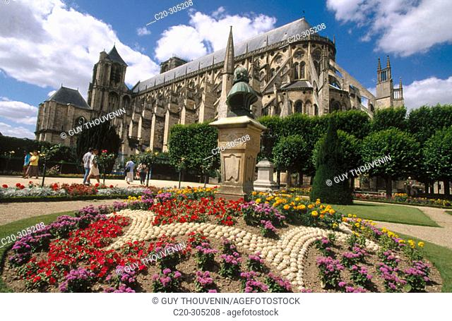Gothic Cathedral of Saint-Étienne. Bourges. France